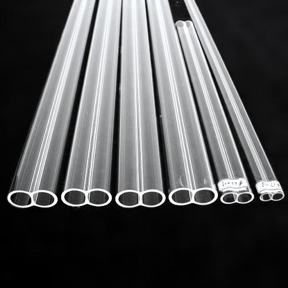 石英玻璃双孔管